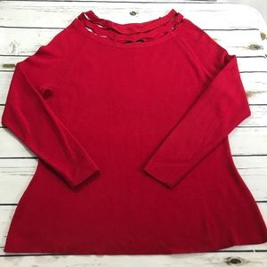 Lane Bryant size 18/20 red sweater